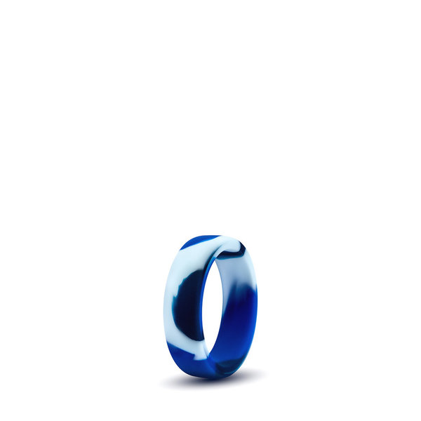 PERFORMANCE SILICONE CAMO COCK RING • Blue Camouflage